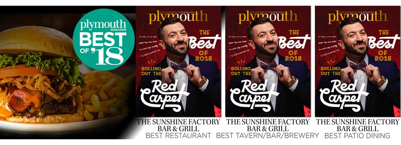 Plymouth Best of 2018 The Sunshine Factory