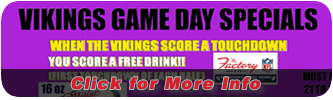 Vikings Game Day Specials
